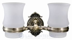<b>Стакан</b> стекло двойной к стене <b>HAYTA</b> 13905G/B Бронза