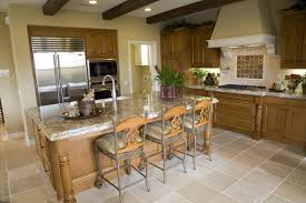 light wood kitchen with ornate light wood and granite island with sink and full side dedicated spacious eat kitchen