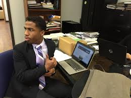 paul quinn college students will have to work for their education paul quinn college freshman kevin lee at work in the president s office