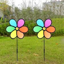 8PCS Colorful Wind <b>Spinner Whirligig</b> Pinwheel Weatherproof ...