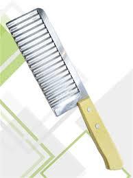 Нож с волнистым лезвием, для <b>фигурной</b> резки овощей и ...