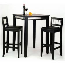 dining room pub style sets: home styles manhattan black pub table with stainless steel apron