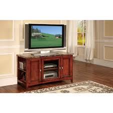 furniture brown cherry wood tv stand with shelf and marble top added by rectangle led cherry veneer home furniture