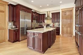 beech wood kitchen cabinets: kitchen with cherry wood design cabinetry
