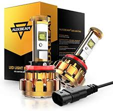 Auxbeam H11 LED Headlight Bulbs F-16 Series Extremely Bright ...