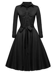Beyove Women's Vintage 1950s Long Sleeve Retro ... - Amazon.com