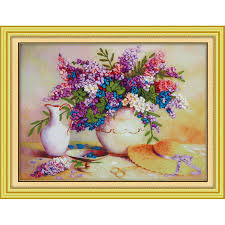 New arrival <b>needlework DIY</b> 3d <b>cross stitch</b> kit Unfinished <b>Ribbon</b> ...