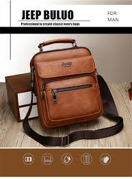 <b>JEEP BULUO</b> Big Size Men's Handbags <b>Famous</b> Brand Man ...