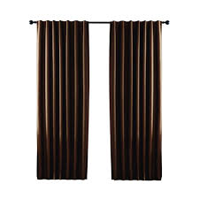 Hidden Tab Curtains Home Decorators Collection Taupe Textured Thermal Back Tab Curtain