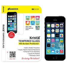 amzer kristal tempered glass screen protector for iphone 5 iphone 5s iphone 5c amazoncom tempered glass