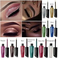 Waterproof <b>Shimmer</b> Eyeshadow <b>Glitter</b> Liquid Eyeliner Metallic 19 ...