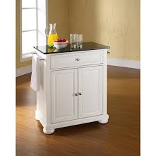 Crosley Kitchen Cart Granite Top Alexandria Black Granite Top Kitchen Cart White Kf30024awh