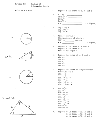Physics Math Review Worksheet, geometry review worksheets ...Physics Math Review Worksheet