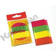 <b>Клейкие закладки</b> бум. 4цв.по 50л. неон 20х50мм Strips <b>Kores</b> ...