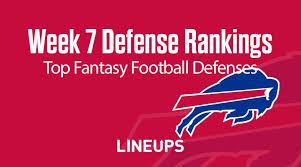 Week 7 NFL Defense (DEF) Fantasy Football Rankings: Stats ...
