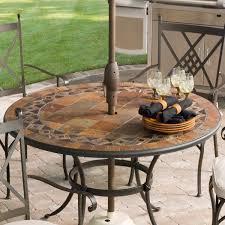 cast iron dining set image of fresh large round patio table with garden umbrella hole base