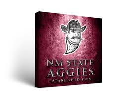 new mexico home decor: new mexico state aggies canvas wall art metal design