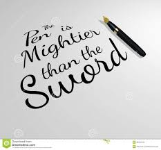 pen is mightier than sword quote