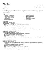 housekeeping objective for resume  seangarrette cohousekeeper hotel hospitality resume example standard  x    housekeeping objective for resume