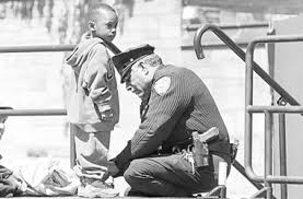 Image result for white cops playing with black kids