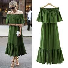 Ordifree 2019 <b>Women</b> Ruffle <b>Long</b> Maxi <b>Dress Summer Sundress</b> ...