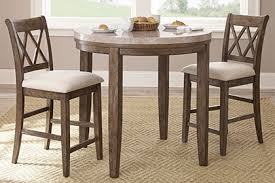 table for kitchen: bistro table with two wide stools