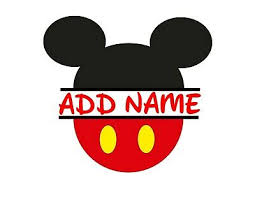 <b>Mickey Mouse Head</b> Personalized Vinyl <b>Wall</b> Decals | eBay