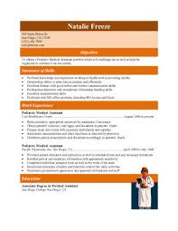 free medical assistant resume samples you can use nowexperienced pediatric medical assistant