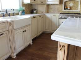 in style kitchen cabinets:  kitchen stunning antique white cabinetry with farmhouse sink custom glazed cabinetry images of in remodeling