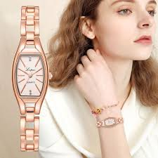 LVPAI Rose Gold Casual Quartz Ladies Bracelet <b>Wristwatches New</b> ...