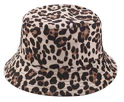 <b>Leopard Print Bucket</b> Hat Trendy Animal Pattern Fisherman Hats for ...