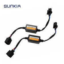 2Pcs/Set <b>H13</b> Car <b>LED</b> Headlight Decoder Fog Light DRL No Error ...