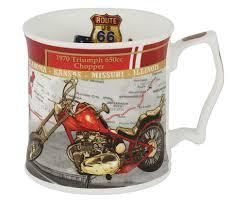 """<b>Кружка</b> """"Мотоцикл <b>Триумф</b>, 1970 г."""" от <b>Carmani</b> серый, красный ..."""