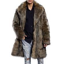 Allywit Men's Super Warm Thick Fake Faux Fur Coat ... - Amazon.com