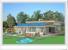 Green Passive Solar Home PlansThis eco friendly Passive Solar House is nestled among mature trees and has a lean