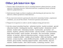 Top 20 teacher interview questions and answers ... 23.