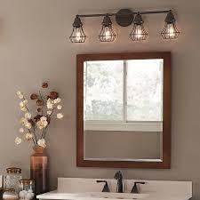 master bath kichler lighting 4 light bayley olde bronze bathroom vanity light at lowes bathroom lighting options