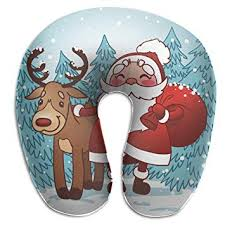 SARA NELL Memory Foam Neck Pillow Christmas ... - Amazon.com