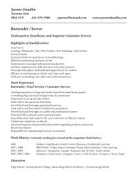 example bartender resume template example bartender resume