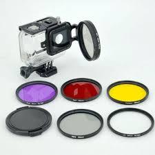 UNIVERSAL <b>6pcs UV CPL</b> ND2 <b>58mm</b> Filter Lens Kit For GoPro ...