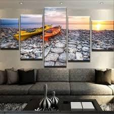 5 Pieces HD Print Canvas Art Sunrise <b>Landscape Modular Pictures</b> ...