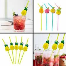 10/12/<b>30Pcs</b> 3D <b>Pineapple</b> Honeycomb Cocktail Drinking Straw ...