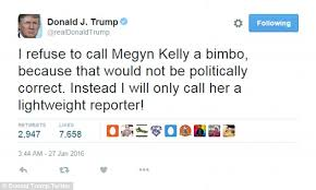 Image result for trump and rosie o'donnell slob and dog  tweets