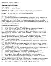 sample resume as cook line cook  tomorrowworld cojob description line cook server bartender host