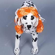 OverTop <b>Pet Dog Long Curly</b> Hair Headgear With Tie: Amazon.co.uk ...