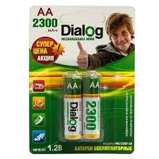 Аккумуляторная <b>батарейка AA Dialog</b> HR6/2300-2B 1,2В 2300 ...