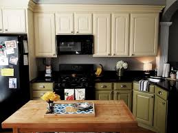 Two Tone Painting Painting Old Kitchen Cabinets Color Ideas Two Tone Kitchen