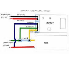com buy car motorcycle led digital dc voltmeter car motorcycle led digital dc voltmeter ammeter dc 0 100v 50a voltage meter current meter 2 in 1 panel meter