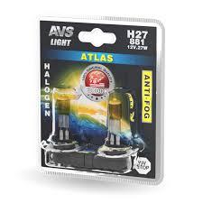 Комплект галогенных <b>ламп AVS ATLAS ANTI-FOG</b> H27/881 ...