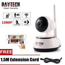 <b>DAYTECH</b> Kamera CCTV <b>IP Wifi</b> 1080p dengan Night Vision IR ...